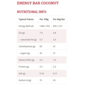 High5 EnergyBar Riegel Box Coconut 25 x 60g